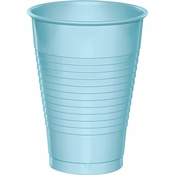Touch of Color Pastel Blue 12 oz Plastic Cups in quantities of 20 / pkg, 12 pkgs / case