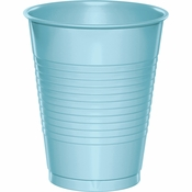 Touch of Color Pastel Blue 16 oz Plastic Cups in quantities of 20 / pkg, 12 pkgs / case