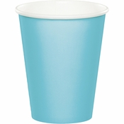Pastel Blue 9 oz Hot & Cold Cups 96 ct