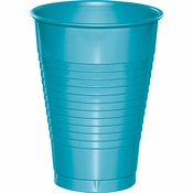 Touch of Color Bermuda Blue 12 oz Plastic Cups 288 ct in quantities of 20 / pkg, 10 pkgs / case