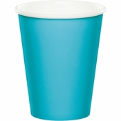 Bermuda Blue 9 oz Hot & Cold Cups 96 ct