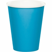 Touch of Color Turquoise 9 oz Hot & Cold Cups in quantities of 24 / pkg, 10 pkgs / case