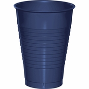 Touch of Color Navy 12 oz Plastic Cups in quantities of 20 / pkg, 12 pkgs / case
