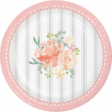 Country Floral Dessert Plates 96 ct