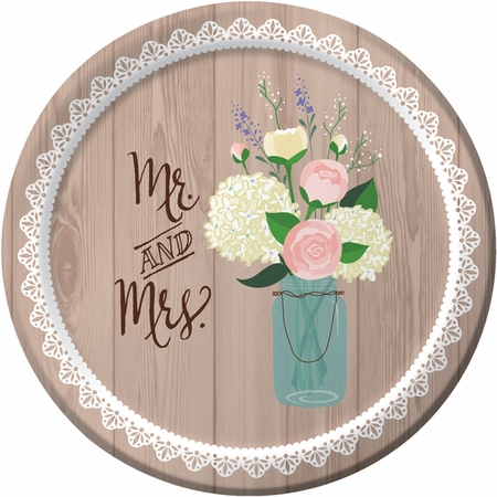 Rustic Wedding Dessert Plates 96 ct