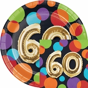 Balloons 60th Birthday Party Supplies