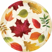 Colorful Leaves Banquet Plates 96 ct