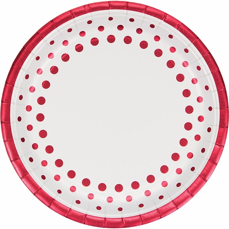 Sparkle and Shine Ruby Foil Banquet Plates