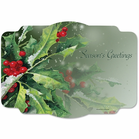 Holly Greetings Placemats 1000 ct