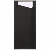 "7.5"" x 3.25"" Black Cutlery Pouches 350 ct"