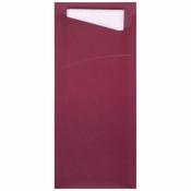 "7.5"" x 3.25"" Burgundy Cutlery Pouches 350 ct"