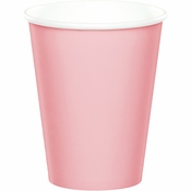 Touch of Color Classic Pink 9 oz Hot & Cold Cups in quantities of 24 / pkg, 10 pkgs / case