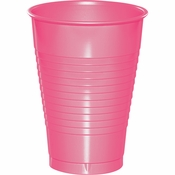 Touch of Color Candy Pink 12 oz Plastic Cups in quantities of 20 / pkg, 12 pkgs / case