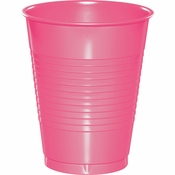Touch of Color Candy Pink 16 oz Plastic Cups in quantities of 20 / pkg, 12 pkgs / case