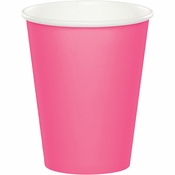 Candy Pink 9 oz Hot & Cold Cups 96 ct