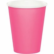 Touch of Color Candy Pink 9 oz Hot & Cold Cups in quantities of 24 / pkg, 10 pkgs / case