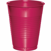 Touch of Color Hot Magenta 16 oz Plastic Cups in quantities of 20 / pkg, 12 pkgs / case