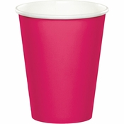 Touch of Color Hot Magenta 9 oz Hot & Cold Cups in quantities of 24 / pkg, 10 pkgs / case