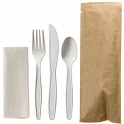 Kraft Cutlery Combo Pouches 100 ct
