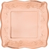Rose Gold Embossed Square Banquet Plates 48 ct