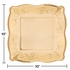 Gold Embossed Square Banquet Plates 48 ct