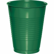 Touch of Color Emerald Green 16 oz Plastic Cups in quantities of 20 / pkg, 12 pkgs / case