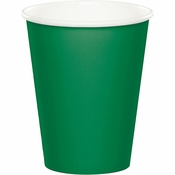 Emerald Green 9 oz Hot & Cold Cups 96 ct