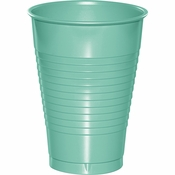 Fresh Mint Green Premium Plastic Cups 12 oz 240 ct