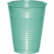 Fresh Mint Green Premium Plastic Cups 16 oz 240 ct