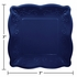 Navy Embossed Square Dessert Plates 48 ct