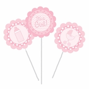 Its a Girl DIY Centerpieces Sticks 18 ct