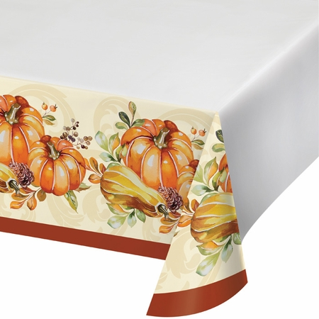 Autumn Wreath Plastic Tablecloths 12 ct