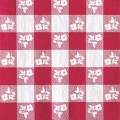 Red Gingham Beverage Napkins 192 ct