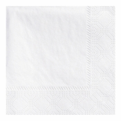 "4.75"" Regal Embossed White Beverage Napkins 3000 ct"