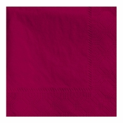 "4.75"" x 4.75"" Regal Embossed Burgundy Beverage Napkins 1000 ct"