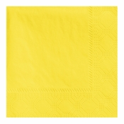 "4.75"" Regal Embossed Yellow Beverage Napkins 1000 ct"