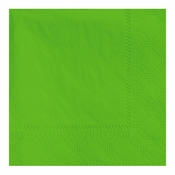 "4.75"" Regal Embossed Fresh Lime Beverage Napkins 1000 ct"