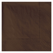 "4.75"" x 4.75"" Regal Embossed Chocolate Brown Beverage Napkins 1000 ct"