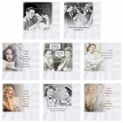 "5"" Wine Quotes Beverage Napkins Variety Pack 1000 ct"