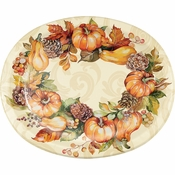 Autumn Wreath Oval Plates 96 ct
