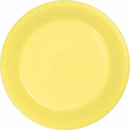 Touch of Color Mimosa Plastic Dessert Plates in quantities of 20 / pkg, 12 pkgs / case