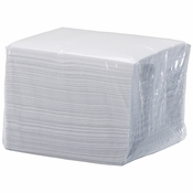 "6.5"" x 6.5"" White Linen-Like Refill Luncheon Napkins 200 ct"