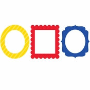 Primary Color Photo Party Frames 18 ct
