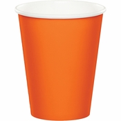Sunkissed Orange 9 oz Hot & Cold Cups 96 ct