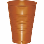 Pumpkin Spice Orange Premium Plastic Cups 12 oz 240 ct