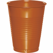 Pumpkin Spice Orange Premium Plastic Cups 16 oz 240 ct