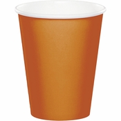 Pumpkin Spice Orange 9 oz Hot & Cold Cups 240 ct