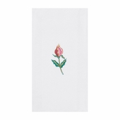 White Floral Mist Linen-Like Guest Towel in quantities of 125 / pkg, 4 pkgs / case