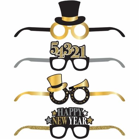 New Year Deluxe Paper Eyeglasses 24 ct