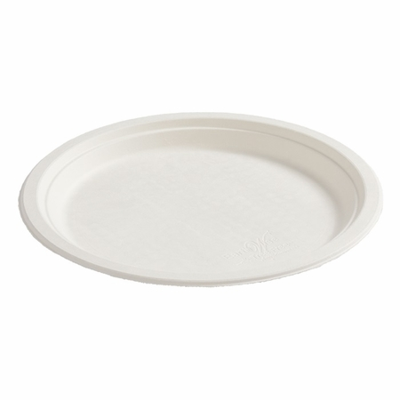 Earth Wise Tree Free 500 ct Heavyweight Banquet Plate sold in 4 pkgs of 125